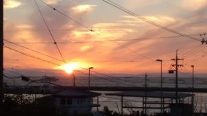 渥美半島の夕陽